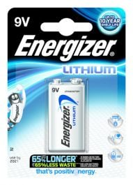 1x Energizer Ultimate Lithium 9V Battery