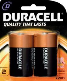 Duracell D Battery - Pack of 2