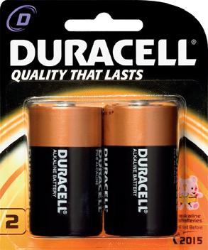 Duracell D Batteries - Pack of 4