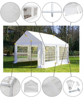 "4m x 4m (13ft 1"" x 13ft 1"") Luxury Marquee / Party Tent"