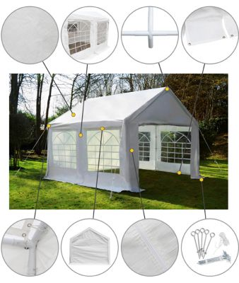 "4m x 4m (13ft 1"" x 13ft 1"") Standard Marquee / Party Tent"