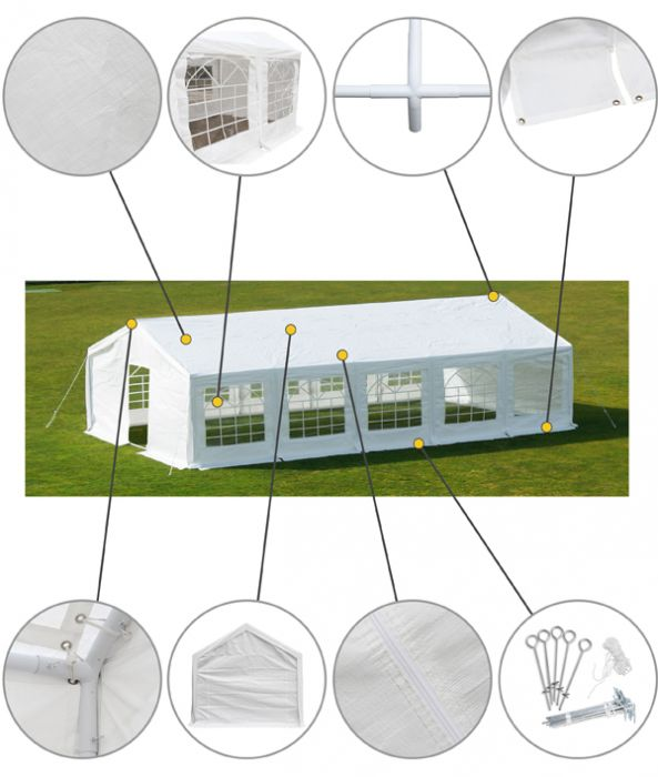 Standard Marquee 6m x 10m with FREE Ground Bar Kit