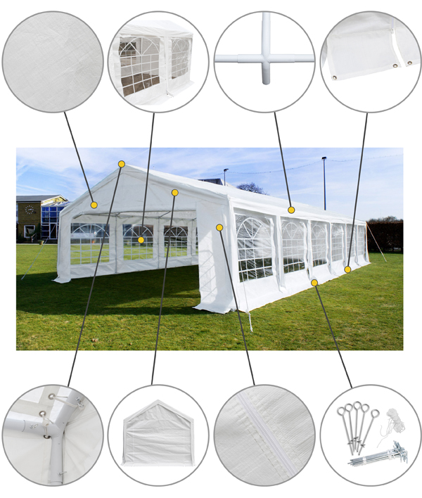 "6m x 12m (19ft 8"" x 39ft 4"") Standard Marquee / Party Tent"
