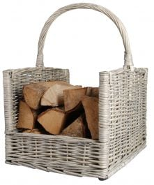 Outdoor Willow Log Basket - 51.5cm