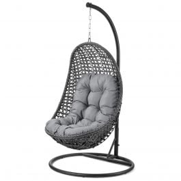 Maze Rattan Malibu Hanging Chair in Grey
