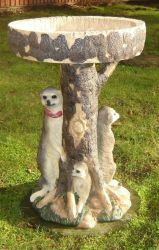 Solar Meerkat Birdtable With Lights