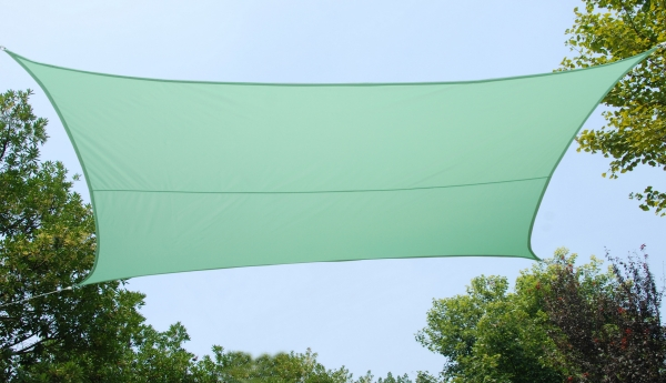 Kookaburra® 5.4m Square Mint Waterproof Woven Shade Sail