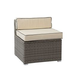 Sherborne Rattan Single Chair - Mixed Grey - by Asha™
