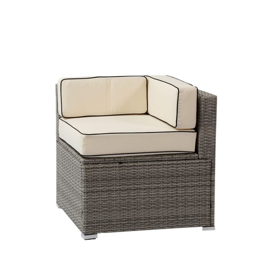 Sherbourne Rattan Corner Chair - Mixed Grey - by Asha™