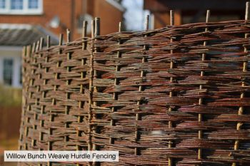 4ft 6in (1.37m) Willow Bunch Weave Hurdles Fencing Panel by Papillon™