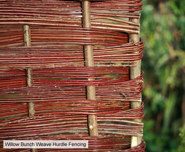 Willow Bunch Weave Hurdles Fencing Panel 1.82m x 1.37m (6ft x 4ft 6in) - By Papillon™