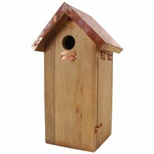 Great Tit Bird House With Copper Roof