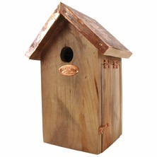 Blue Tit Bird House With Copper Roof