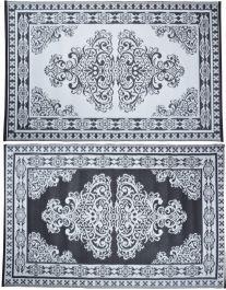 Outdoor Persian Style Reversible Garden Carpet - 186cm
