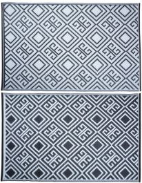 Outdoor Diamond Pattern Reversible Garden Carpet - 186cm