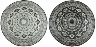 Reversible Round Garden Carpet - D180cm