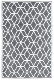 Garden Carpet, Grey/White - 180cm