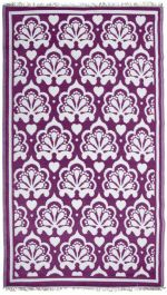 Garden Carpet ,Purple/White -241cm