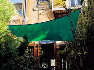 Coolaroo Forest Green Sail Shade - Square 3.6m