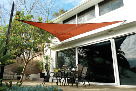 Coolaroo Terracotta Sail Shade - Triangle 3.6m