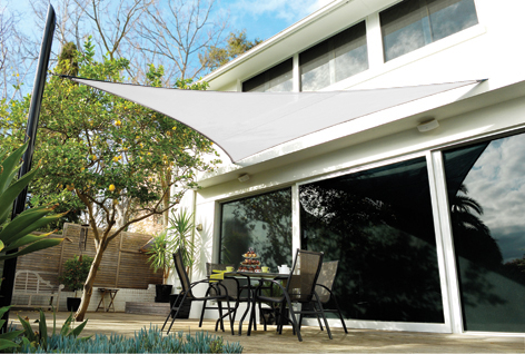 Coolaroo Polar White Sail Shade - Triangle 5m