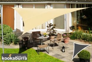 Kookaburra® 6m Right Angle Triangle Sand Waterproof Woven Shade Sail
