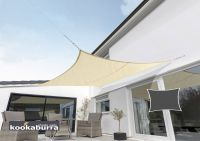Kookaburra 3m Square Sand Waterproof Woven Shade Sail