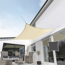 Kookaburra® 3.6m Square Sand Waterproof Woven Shade Sail