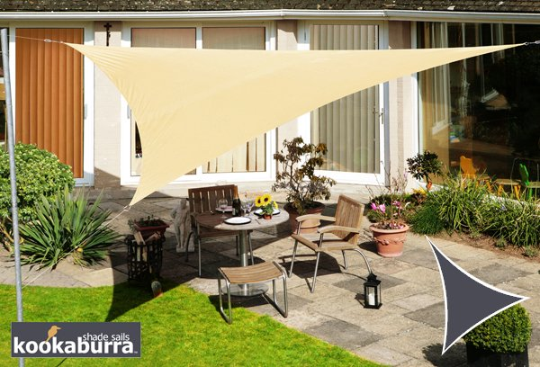 Kookaburra® 3.6m Triangle Sand Waterproof Woven Shade Sail