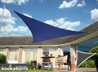 Kookaburra 6m Right Angle Triangle Blue Waterproof Woven Shade Sail