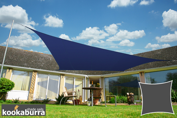 Kookaburra® 5.4m Square Blue Waterproof Woven Shade Sail