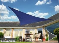 Kookaburra 5m Triangle Blue Waterproof Woven Shade Sail