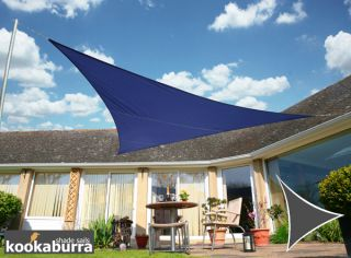 Kookaburra® 3m Triangle Blue Waterproof Woven Shade Sail