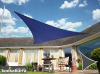 Kookaburra 3m Triangle Blue Waterproof Woven Shade Sail