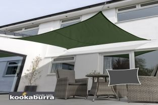 Kookaburra® 5mx4m Rectangle Green Waterproof Woven Shade Sail