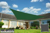 Kookaburra® 3.6m Square Green Waterproof Woven Shade Sail