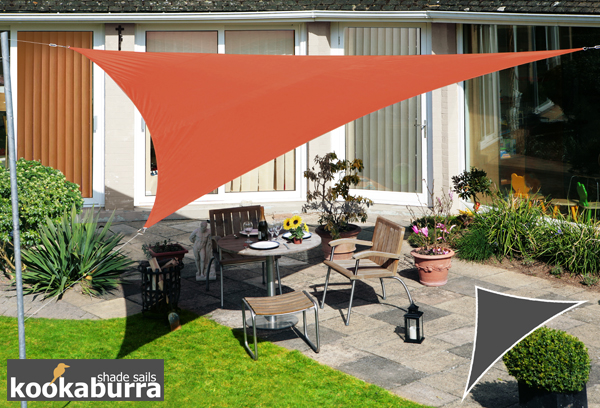 Kookaburra® 6m Right Angle Triangle Terracotta Waterproof Woven Shade Sail