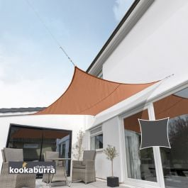 Kookaburra® 5.4m Square Terracotta Waterproof Woven Shade Sail