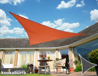 Kookaburra® 5m Triangle Terracotta Waterproof Woven Shade Sail