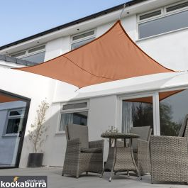 Kookaburra® 6mx5m Rectangle Terracotta Party Sail Shade (Woven - Water Resistant)