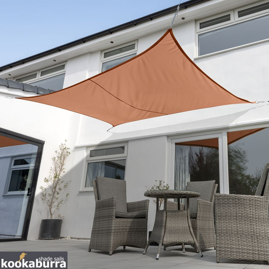 Kookaburra® 5mx4m Rectangle Terracotta Party Sail Shade (Woven - Water Resistant)