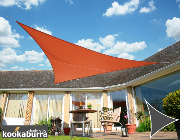 Kookaburra® 3m Triangle Terracotta Waterproof Woven Shade Sail