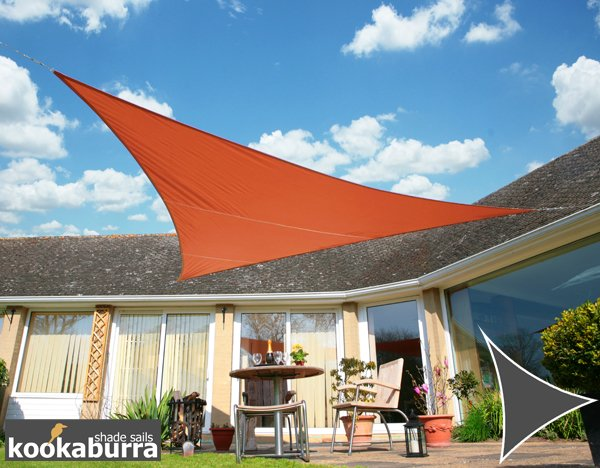 Kookaburra® 3.6m Triangle Terracotta Waterproof Woven Shade Sail