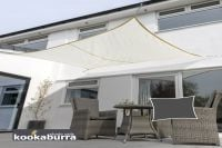 Kookaburra 5mx4m Rectangle Ivory Waterproof Woven Shade Sail