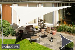 Kookaburra® 5m Triangle Ivory Waterproof Woven Shade Sail
