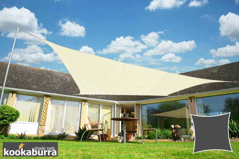 Kookaburra® 3.6m Square Ivory Waterproof Woven Shade Sail