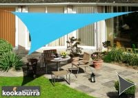 Kookaburra® 5m Triangle Azure Waterproof Woven Shade Sail