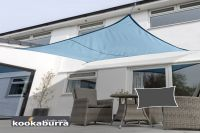 Kookaburra® 4mx3m Rectangle Azure Waterproof Woven Shade Sail