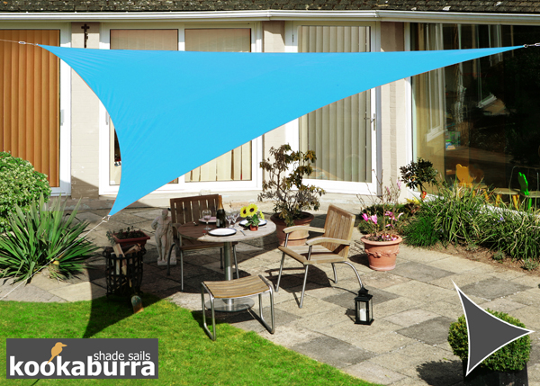 Kookaburra 3m Triangle Azure Waterproof Woven Shade Sail