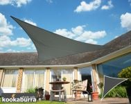 Kookaburra 6m Right Angle Triangle Charcoal Waterproof Woven Shade Sail